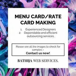 Menu Card Rate Card Making Service