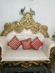 Modern Wooden Banquet Sofa Chair, For Wedding, Back Style: Cushion