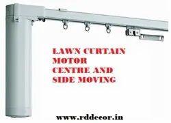 White Aluminium Motorized Curtain Track