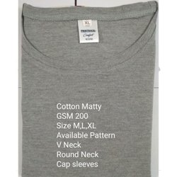 Gray Men Cotton T-Shirt