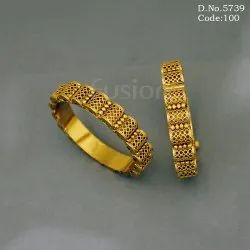 Antique Gold Openable Bangles