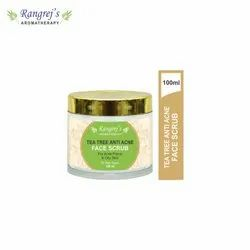 Rangrej''s Aromatherapy Tea Tree Anti Acne Face Scrub For Radiant Glowing Skin 100ml