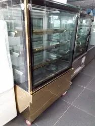 COMMERCIAL S.S DISPLAY COUNTER GOLDEN 3 FEET