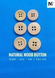Brown And Natural,Etc Wood,Etc Wooden Button