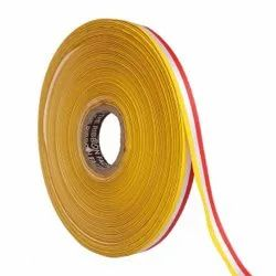 Double Satin Medallion - Yellow, White, Red Ribbons 12mm/ 20mtr Length