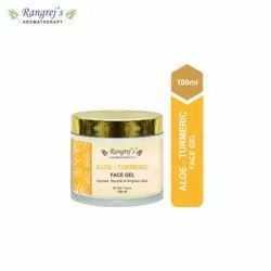 Rangrej''s Aromatherapy Aloe Turmeric Face Gel For Skin Lighten/Brighten/Glowing/Moisturizing Skin