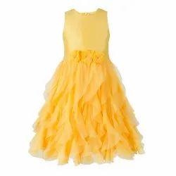 Toy Balloon Kids Girls Yellow Waterfall Party Dress