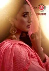 Triple AAA Kashmira Pure Georgette Sifli Work With Santoon Inner Dress Material Catalog