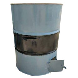 Mild Steel Round Charcoal Fired Tandoor, For Commercial