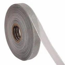 Lurex - Silver Zari Edge Ribbons 25mm/1'' Inch 20mtr Length