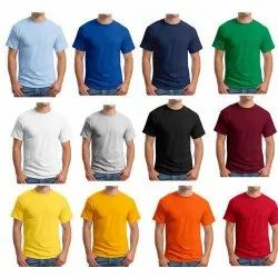 S M L Xl Tshirt Round Neck Cotton Big Medium Size Which Fits All, Quantity Per Pack: 1 To 50