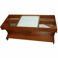 Polished Wooden Teapoy Table
