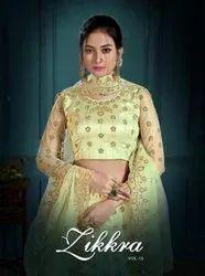 Zikkra Lehenga Vol 15 Designer Net Bridal Lehenga Choli Catalog