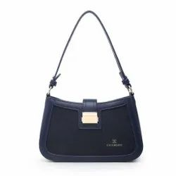 Cocoberry Pu Leather Ladies Black Side Handbag, For Casual Wear, Size: 6*5 Inches