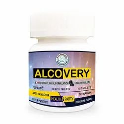 byPureNaturals Alcovery, Kin Hangover Control Party Tablets, 10 Tablet