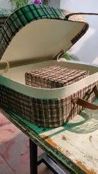 Handled Brown Handmad Designer Cardboard Briefcase, Bag Size: 10 X 8 Inches