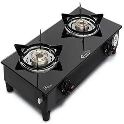 Mini 2 Burner Glass Top Gas Stove, For Kitchen