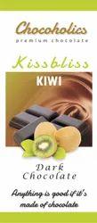 Chocoholics Bar Kiss Bliss Kiwi Dark Chocolate