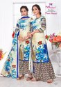 Mishri Plazo Special Karachi Cotton Vol-4 Flower Print Suits Catalog