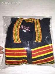 Men Collar Woolen Zipper Pullover Sweater, Machine and Hand Wash, Size: 24
