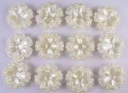 Eshoppee 12 Pcs Off White Color Pearl Plastic Beads For Jewellery Making