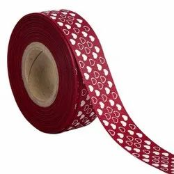 Hearts Wine Ribbons25mm/1''Inch Gross Grain Ribbon 20mtr Length