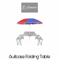Suitcase Folding Table With Umbrella