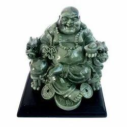 Agate Stone Laughing Buddha Statue