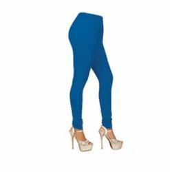 Hosiery Churidar Ladies Sky Blue Plain Legging