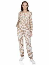 Cotton White Tie & Dye, Lounge Pants Set