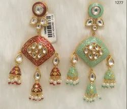 Stylish Designer Earrings Meenakari Work