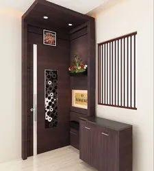 Brown Designer Wooden Main Door, For Furniture