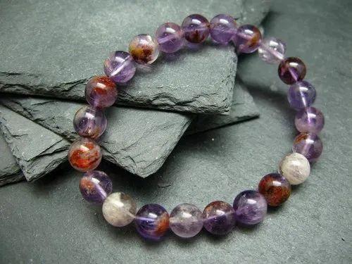 Cacoxenite Malachite Bracelet