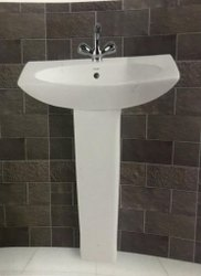 Ceramic White ITALIA PEDESTAL WASH BSASIN, For Bathroom