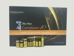 Bio Rae Complexion 10 Skin Whitening, Packaging Size: 28 Ampoule And 12 Vial, Packaging Type: Box