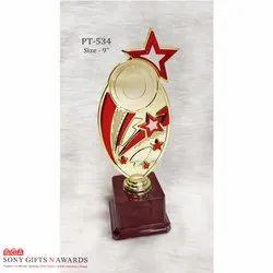 Six Star Red Plastic Trophie