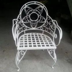 Powder Coated Wrought Iron Chair