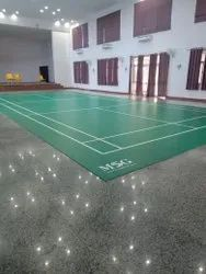 Vinyl/Bamboo Sports Flooring Services, For Indoor, Anti-Skidding