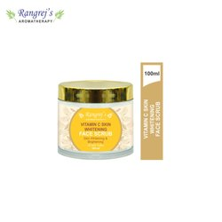 Rangrej''s Aromatherapy Vitamin C Skin Whitening Face Scrub For Radiant Glowing Skin 100ml