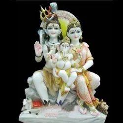 Marble Lord Shiva Parvati Stylish Statue