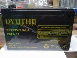 DYUTHI UPS Battery, For Telecom, Capacity: 12V-7.5AH