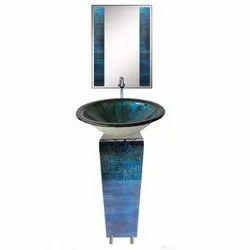 Blue And Black L Bend Basin Set