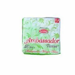 Printed Ambassador Paper Napkin, Packet, Size: 12 X 12 Cm