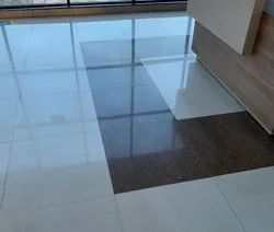 Glossy Square Plain Ceramic Floor Tiles, Size: 60 * 60 In cm, Thickness: 5mm