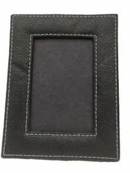 Black Handmade Leather Photo Frame, For Gift, Size: 4x6 Inch