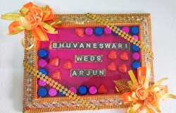 Wedding Chocolate Name Tray