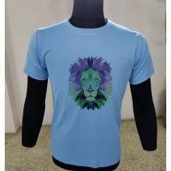 Round Neck Men Cotton Half Sleeve T Shirt