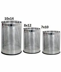 Round Perforated Waste Bins