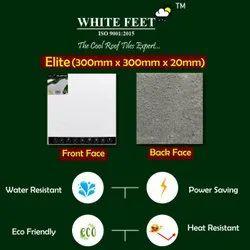 White Cool Roof Tile - White Feet Tile - Elite Silver - 300mm X 300mm X 20mm
