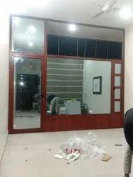 Brown French Aluminium Door, For Office